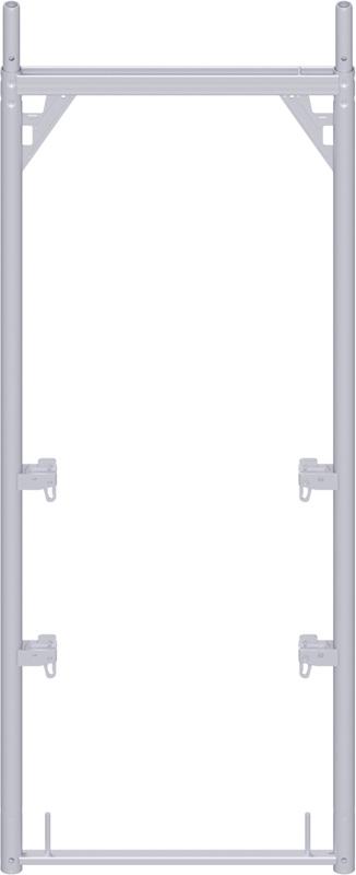 ALFIX - Cadre en acier 2.00 x 0.73 m avec 4 boitiers à clavettes