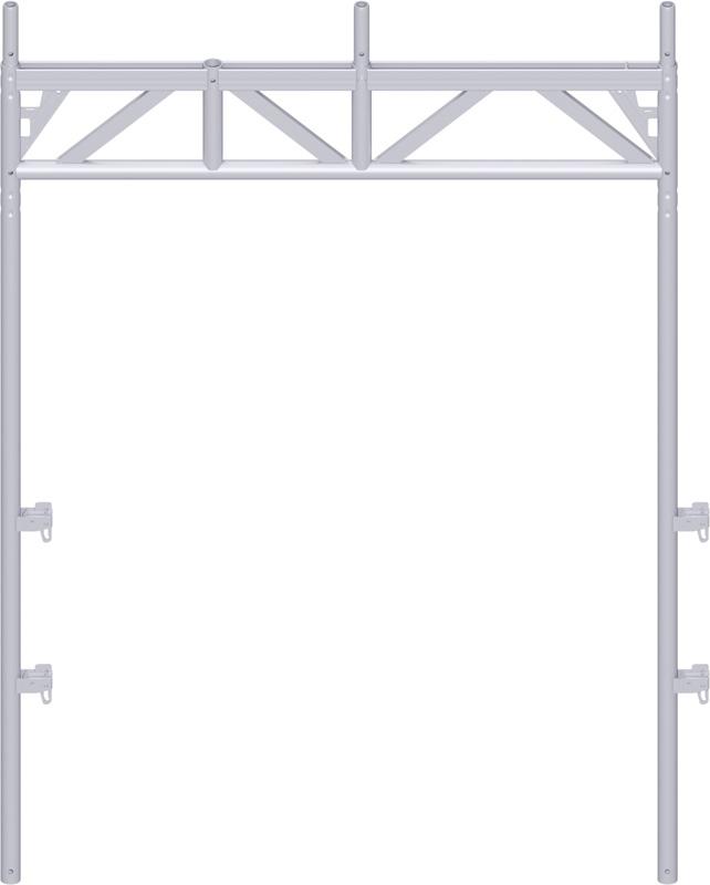 ALFIX - Cadre passage piétons en acier 2.20 x 1.57 m en 3 parties