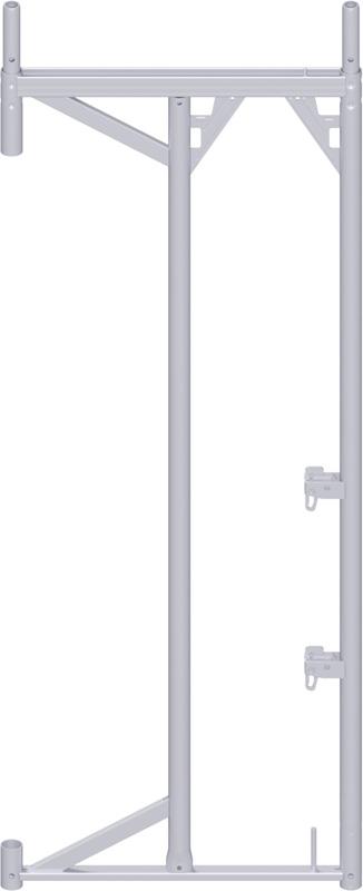 ALFIX - Cadre porte-à-faux en acier 2.00 x 0.37 m