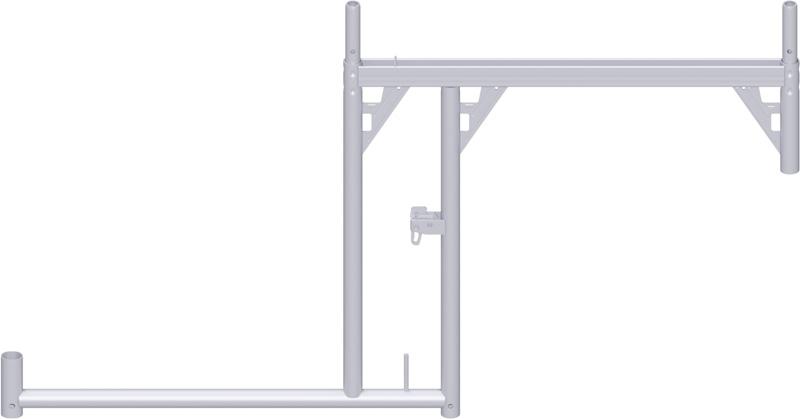 ALFIX - Cadre console DS en acier 0.99 x 1.09 m