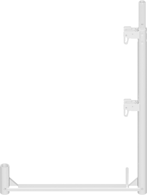 ALFIX - Poteau de garde-corps long en aluminium 1.00 x 0.73 m