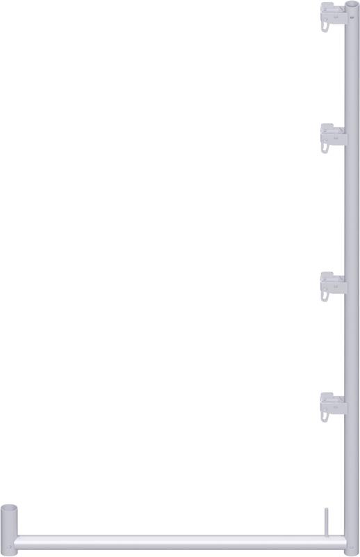 ALFIX - Support filet de protection en acier 2.00 x 1.09 m
