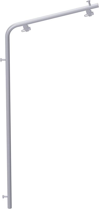 ALFIX - Protection intempéries façade en acier 2.00 m