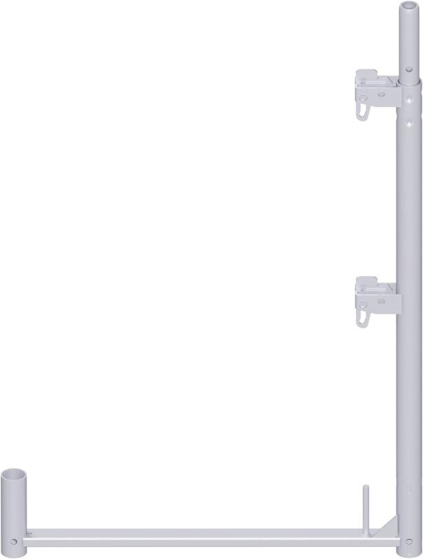 ALFIX - Poteau de garde-corps long en acier 1.00 x 0.73 m
