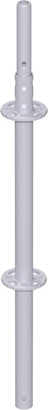 MODUL - Montant vertical en acier avec raccord de tube emboutis 1.00 m