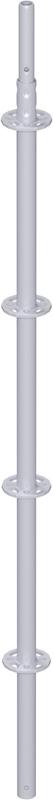 MODUL - Montant vertical en acier avec raccord de tube emboutis 2.00 m