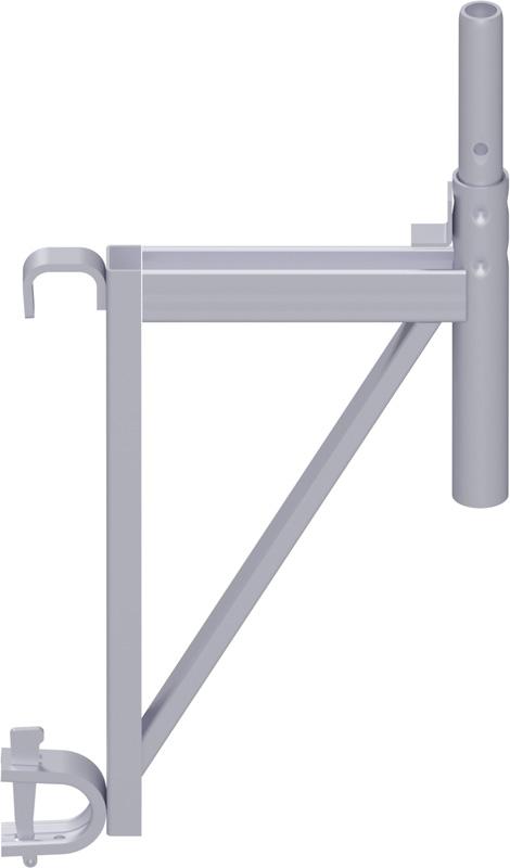 MULTI - Console en U avec crochets pour tube rond 0.36 m
