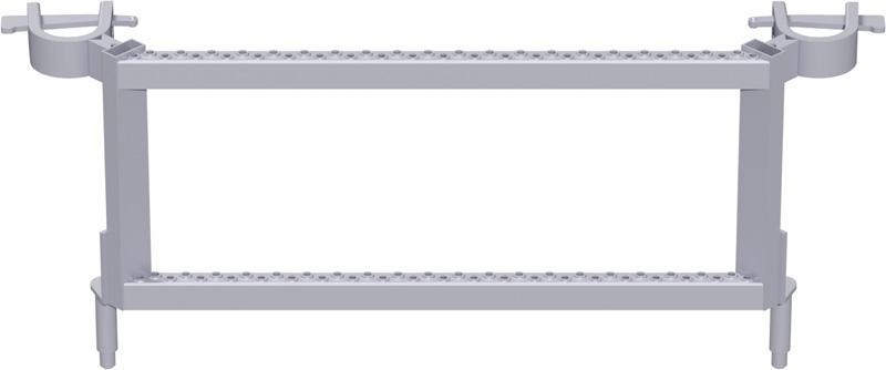 MULTI - Segment d'échelle d'étage en acier 0.73 x 0.50 m