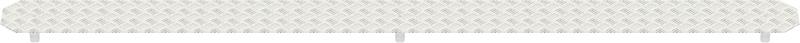 MULTI - Recouvrement fente en aluminium 1.57 x 0.19 m