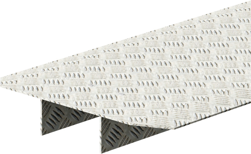 MULTI - Recouvrement fente pour double montant en aluminium 2.07 x 0.40 m