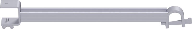 MULTI - Support plancher intermédiaire de bord en U en acier (version de plancher à tube)  0.64 m