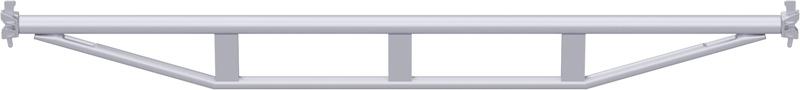 MULTI - Double support-plancher à tube en acier 2.57 m
