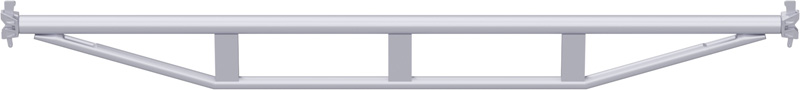 MULTI - Double support-plancher à tube en acier 3.07 m