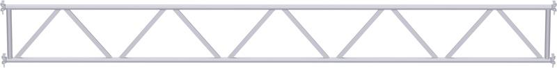 MULTI - Poutre en treillis tubulaire en acier 2.57 m