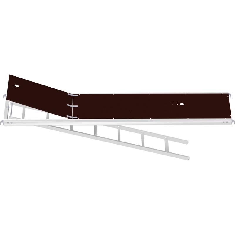ALFIX - Plancher alu/bois avec trappe et échelle 3.07 x 0.60 m