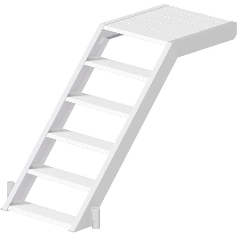 ALFIX - Volée d'escalier de départ en aluminium 1.40 x 1.00 x 0.62 m
