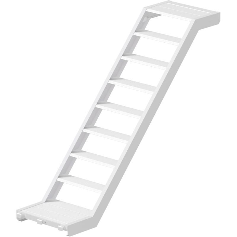 MULTI - Volée d'escalier en aluminium 2.07 x 1.50 x 0.62 m