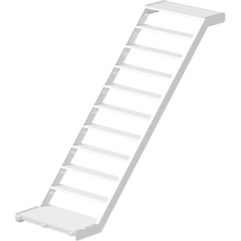 MULTI - Volée d'escalier en aluminium 3.07 x 2.00 x 0.94 m