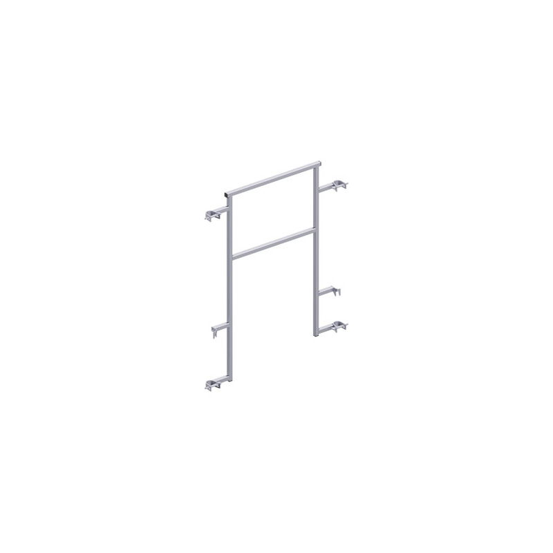 ALFIX - Double garde-corps de sécurité définitif MDS (TRBS) en acier 1,09 m (fixe) - FACADE ALFIX