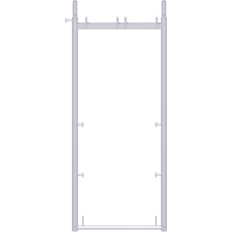UNIFIX - Cadre en acier avec goujons basculeurs des deux côtés 2.00 x 0.74 m
