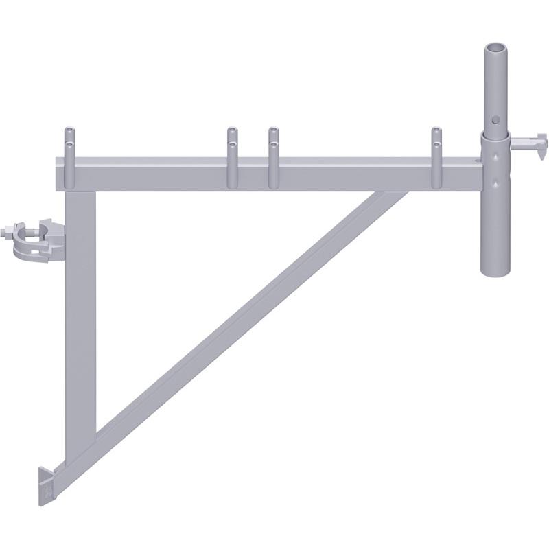 UNIFIX - Console en acier 0.64 m avec demi-collier et raccord de tube