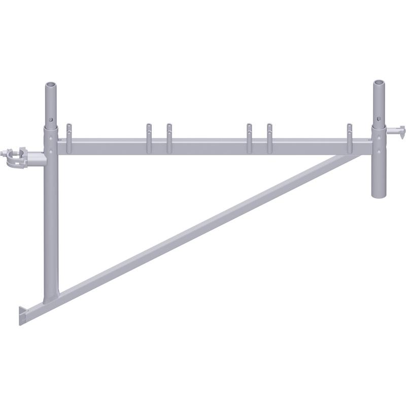 UNIFIX - Console en acier 1.10 m avec demi-collier et raccord de tube
