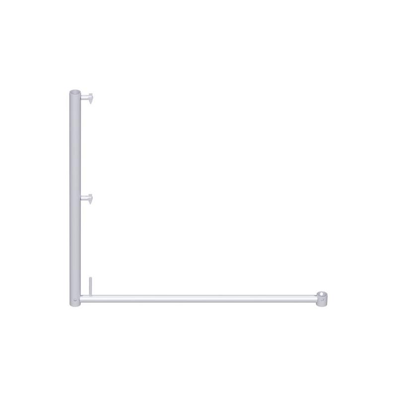 UNIFIX - Poteau de garde-corps long en acier 1.00 x 1.10 m