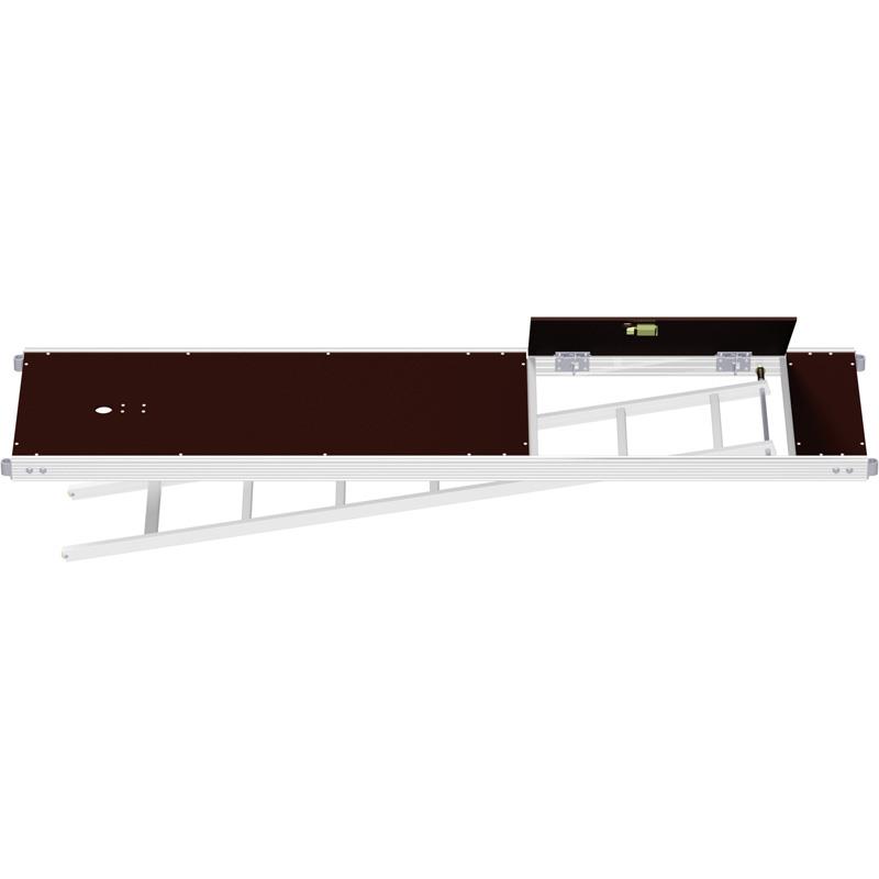 UNIFIX - Plancher alu/bois avec trappe décalée et échelle 2.50 x 0.64 m