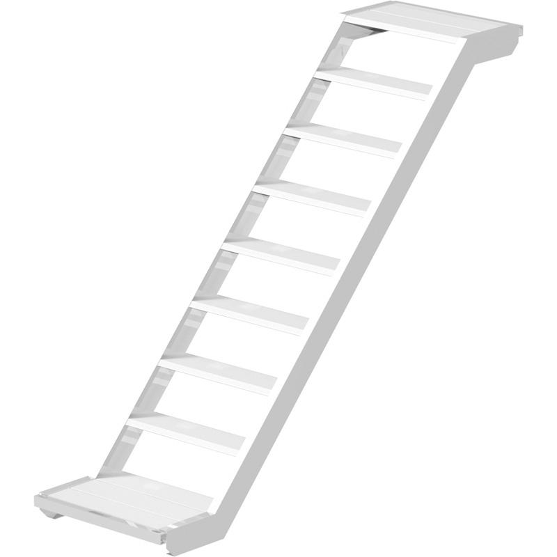UNIFIX - Volée d'escalier en aluminium 2.00 x 1.50 m - largeur 0.64 m