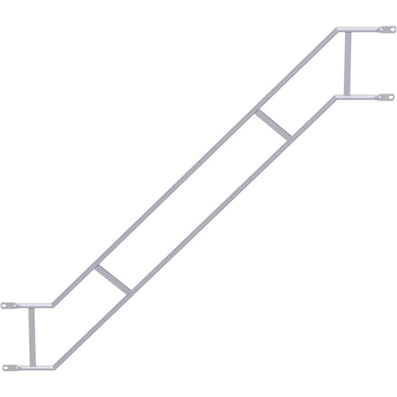 UNIFIX - Double garde-corps volée d'escalier en acier 2.50 x 2.00 m