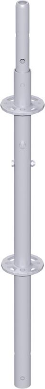 MODUL - Montant vertical en acier avec raccord de tube vissé 1.00 m