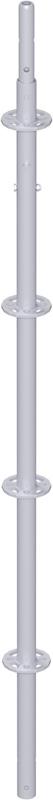 MODUL - Montant vertical en acier avec raccord de tube vissé 2.00 m