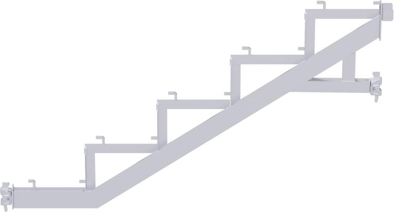 MULTI - Limon avec tête à clavette en acier - charge maxi 500 kg/m² (classe de charge 5) - 2.57 x 2.00 m
