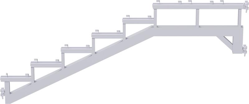 MULTI - Limon avec tête à clavette en acier - charge maxi 750 kg/m² - 2.57 x 1.00 m