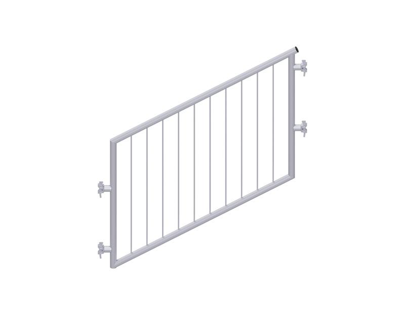 MULTI - Garde-corps d'escalier en acier avec sécurité enfant 1.57 x 1.00 m