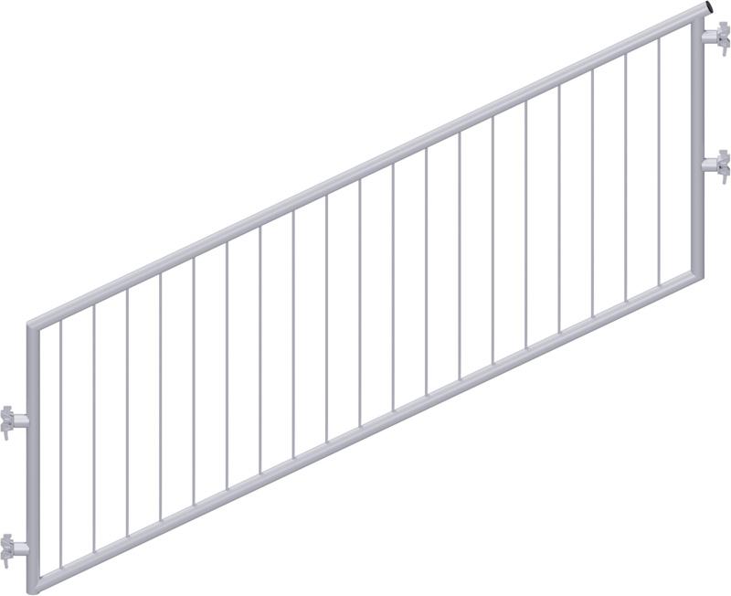 MULTI - Garde-corps d'escalier en acier avec sécurité enfant 2.57 x 1.50 m