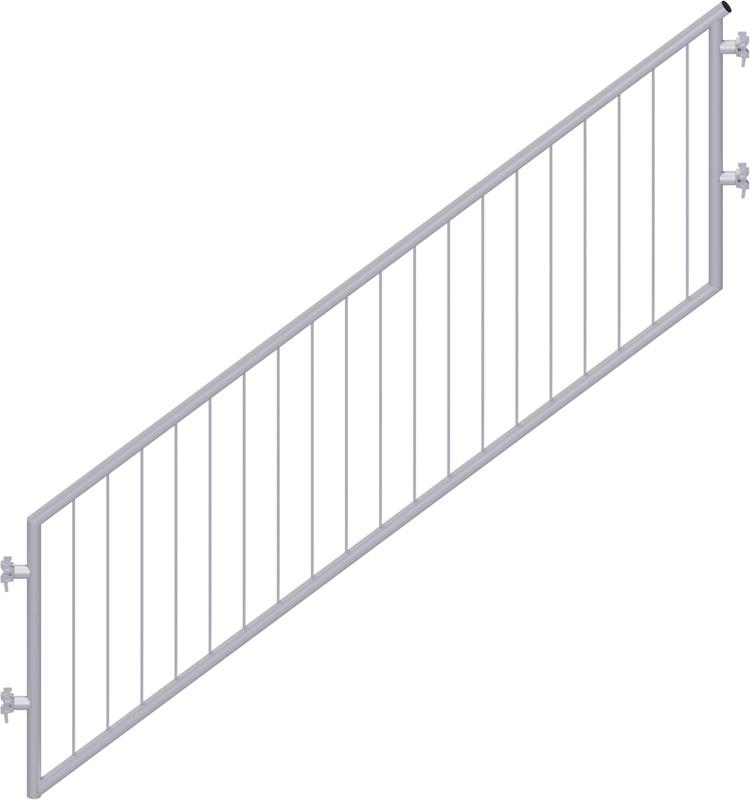 MULTI - Garde-corps d'escalier en acier avec sécurité enfant 2.57 x 2.00 m