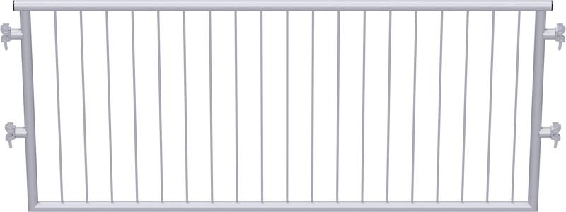 MULTI - Garde-corps en acier avec sécurité enfants 2.57 x 1.10 m