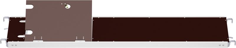 MULTI - Plancher alu/bois RE avec trappe décalée sans échelle 2.07 x 0.60 m