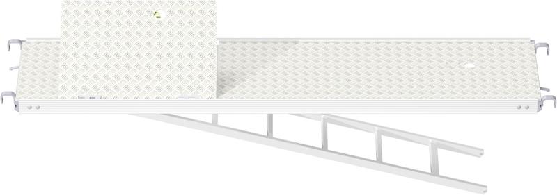 MULTI - Plancher tout alu RE avec trappe décalée et échelle 2.57 x 0.60 m