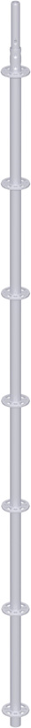 METRIQUE - Montant vertical de départ en acier avec raccord de tube embouti 3.16 m