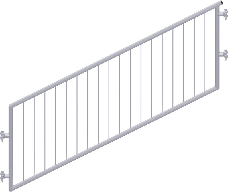 METRIQUE - Garde-corps d'escalier avec sécurité enfant en acier 2.50 x 1.50 m