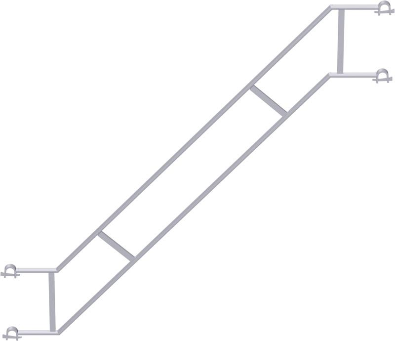 METRIQUE - Double garde-corps d'escalier en acier 2.50 x 2.00 m