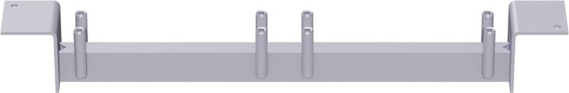 METRIQUE - Support-plancher intermédiaire centrique en acier (fixation plancher acier + plancher acier) 0.32 m