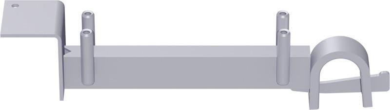 METRIQUE - Support-plancher intermédiaire de bord en acier (fixation support-plancher à tube + plancher acier) 0.64 m