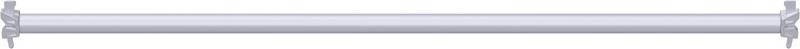 METRIQUE - Support-plancher à tube en acier 1.40 m