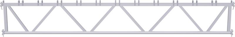 METRIQUE - Poutre en treillis en acier système UNIFIX 5.00 m