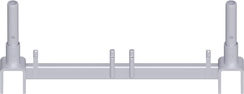 METRIQUE - Traverse poutre en treillis en acier système UNIFIX 0.74 m